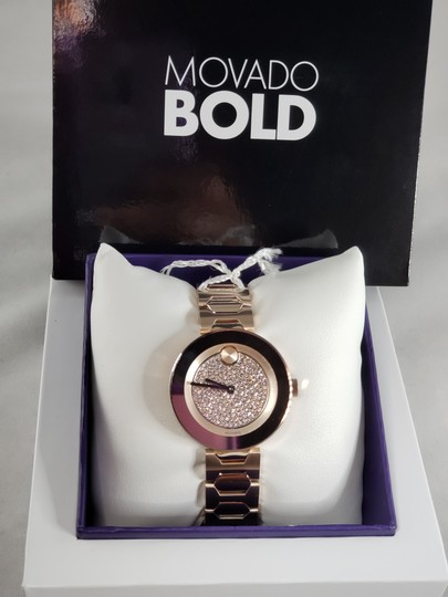 Movado Bold Crystal Pave Dial Ladies Watch 3600493 Image 1