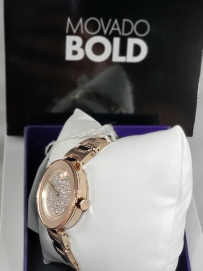 Movado Bold Crystal Pave Dial Ladies Watch 3600493 Image 3