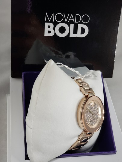 Movado Bold Crystal Pave Dial Ladies Watch 3600493 Image 4