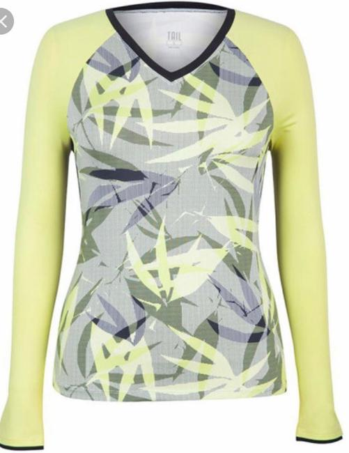 Tail NWT TAIL Intrigue Chartreuse UPF 50 Tennis Top XL Image 6