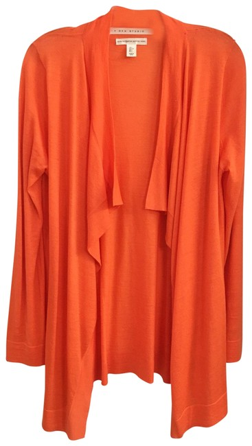 Preload https://img-static.tradesy.com/item/25679863/max-studio-coral-color-comes-with-a-free-gift-sweater-new-cardigan-size-12-l-0-1-650-650.jpg