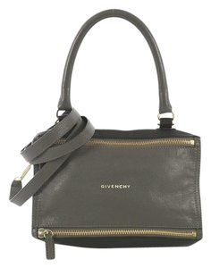 Givenchy Pandora Leather Satchel in blue and gray