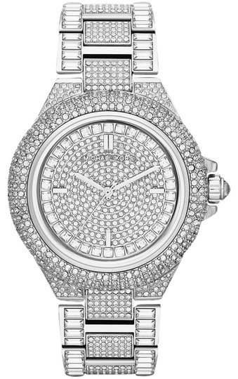 Preload https://img-static.tradesy.com/item/25679937/michael-kors-silver-camille-stainless-pave-crystal-glitz-mk5869-watch-0-1-540-540.jpg