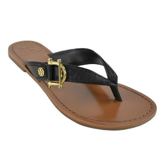 Tory Burch Nora Thong Slip On Black Sandals Image 1