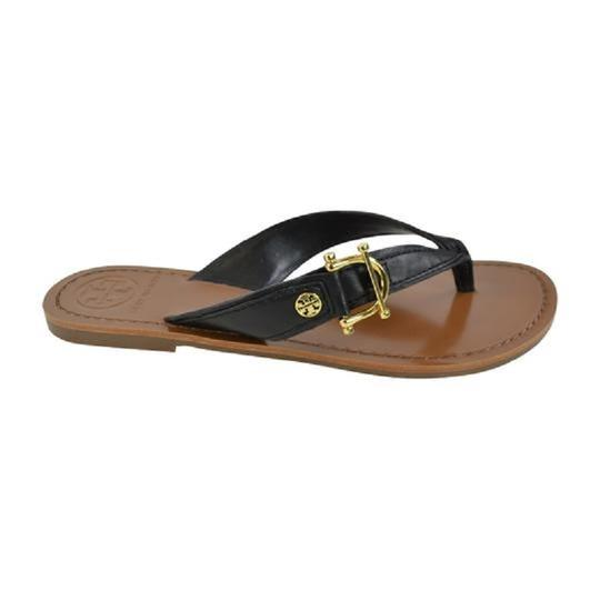 Tory Burch Nora Thong Slip On Black Sandals Image 2