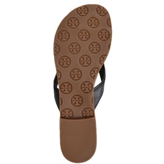 Tory Burch Nora Thong Slip On Black Sandals Image 4
