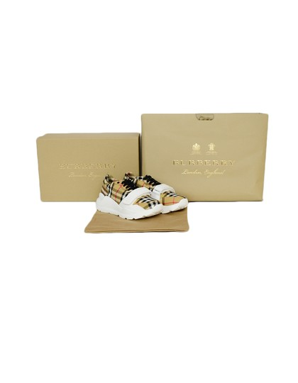 Burberry Regis Check Sneakers Low-top Plaid Athletic Image 5