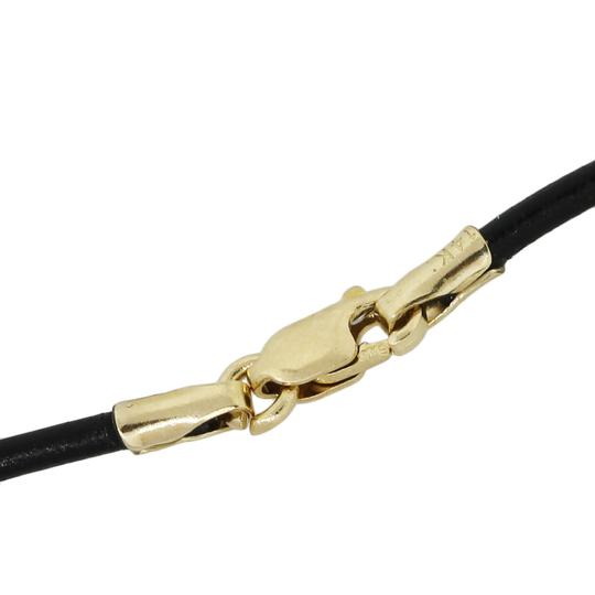 John Hardy John Hardy Gold and Sterling Silver Beads On Leather Strand Necklace Image 3