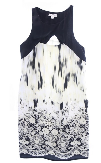 Preload https://img-static.tradesy.com/item/25679985/silence-noise-ivory-and-black-print-x-small-short-cocktail-dress-size-0-xs-0-0-650-650.jpg