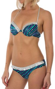 Just Cavalli New Women Lined Push-Up 2 Piece Bikini Swimsuit US M-L / EU 46