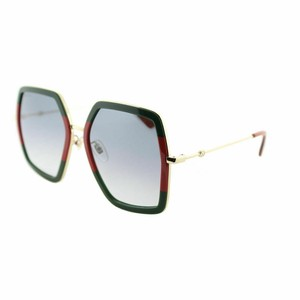 Gucci Stiped Green Gold Grey Gradient