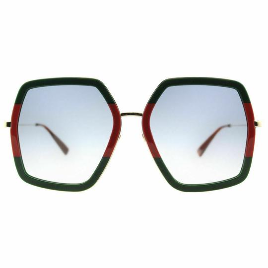 Gucci Stiped Green Gold Grey Gradient Image 1