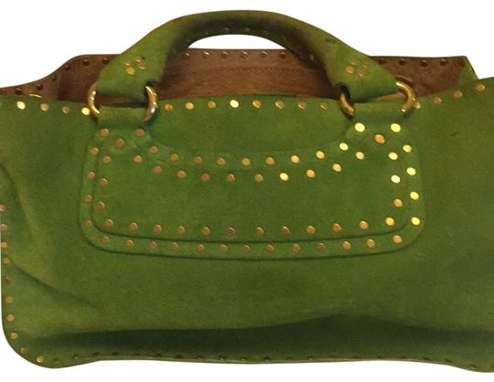 Preload https://img-static.tradesy.com/item/25680024/valentino-celine-green-and-gold-suede-leather-cross-body-bag-0-1-540-540.jpg