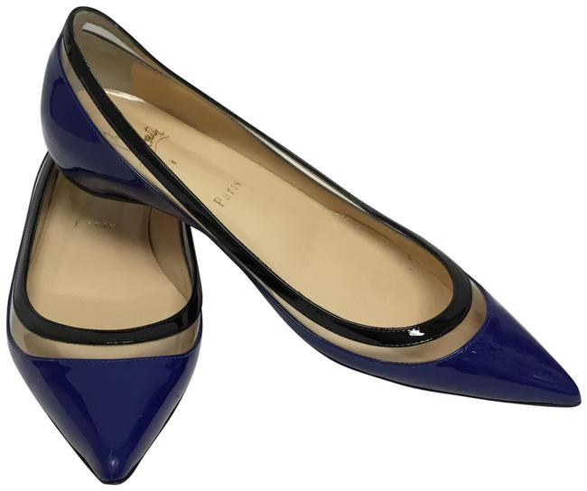 Item - Navy Patent Leather Paulina Flats Size EU 36.5 (Approx. US 6.5) Regular (M, B)