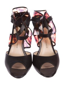 Paul Andrew Pvc Strap Detailing Leather Sole Black & Brown Sandals