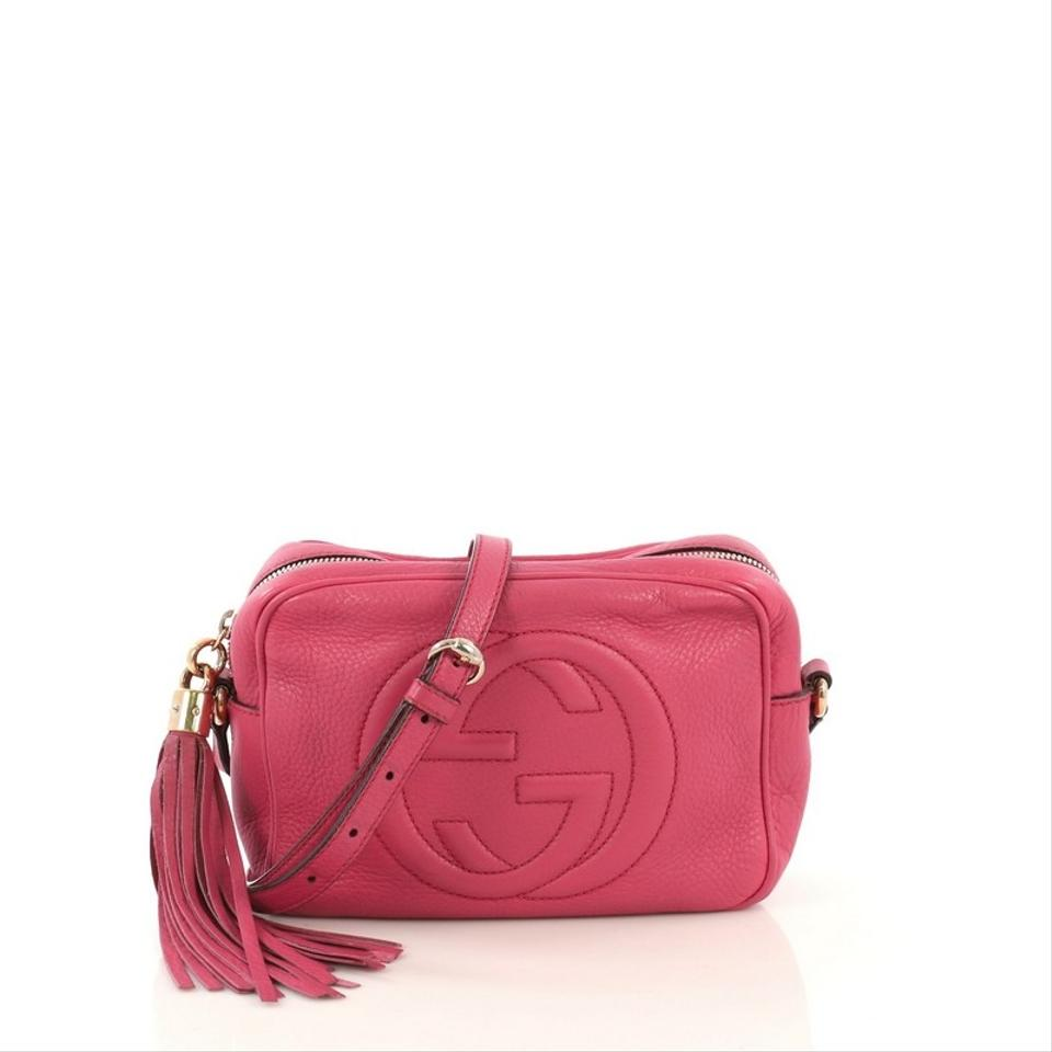c1f9094fc Gucci Soho Disco Small Pink Leather Cross Body Bag - Tradesy