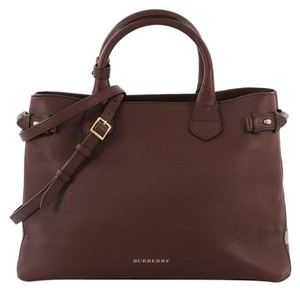 Burberry Convertible Tote Satchel in purple