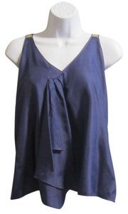 Tea and Honey Draped Anthropologie Top Purple