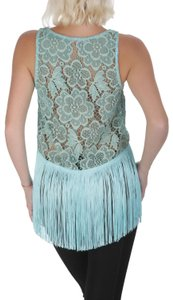 Pin-Up Stars Women Lace Lace Blouse Made In Italy Top Blue