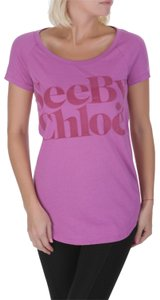 See by Chloé T-shirt Logo Graphic T-shirt T Shirt Purple