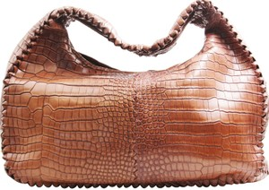 Bottega Veneta Crocodile Skin Shoulder Bag