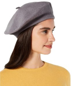 INC International Concepts INC International Concepts Gray Solid Wool Beret
