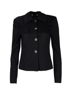 Gucci Wool Collar Black Jacket