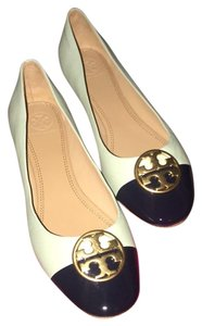 Tory Burch green, navy, blue Flats