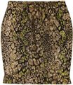 Elie Tahari Snakeskin Animal Print Gold Ruffle Skirt black