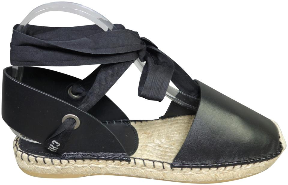 640b0ab552e Dior Black Espadrilles Nicely-d Leather Raffia Sold Out Ankle Strap Tie New  Flats Size EU 39 (Approx. US 9) Regular (M, B)