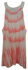 Charming Charlie Top Coral and White