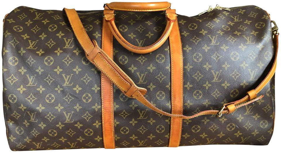 8235e0ce136 Louis Vuitton Keepall Bandouliere 60 Brown Monogram Canvas and Leather  Weekend/Travel Bag 52% off retail