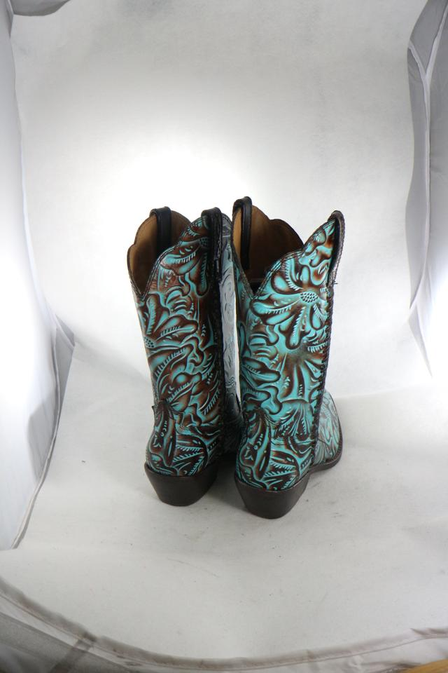 fc02e1f264d Patricia Nash Designs Turquoise Womens Bergamo Cowboy Western Embossed  Boots/Booties Size US 6 Regular (M, B) 42% off retail