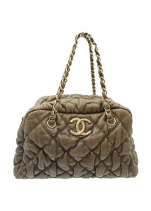 Chanel Lambskin Bubble Quilt Shoulder Bag