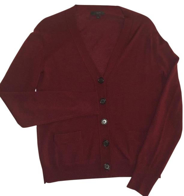 Item - Maroon Solid V-neck Sweater Cardigan Size 4 (S)