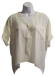 Love Stitch Sheer Top White