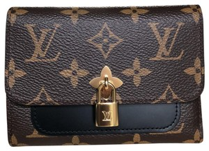 Louis Vuitton Monogram Flower Compact Wallet in Noir