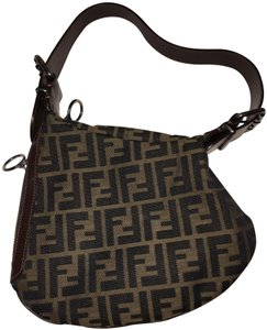 Fendi Brown Canvas Zucca Shoulder Bag