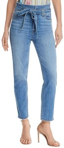 7 For All Mankind Paperbag Skinny Jeans-Light Wash