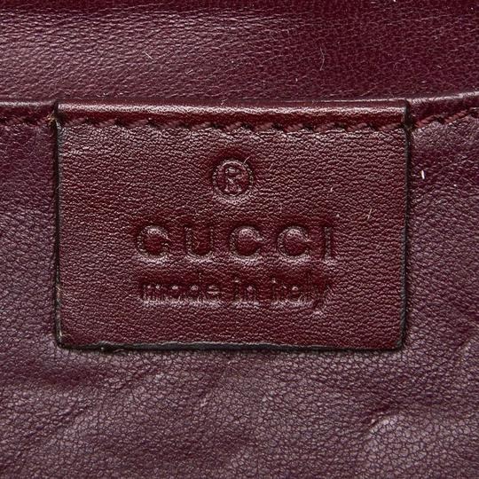 Gucci 9ggucl001 Vintage Snakeskin Leather Red Clutch Image 5