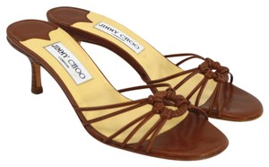 Jimmy Choo Leather Summer Casual Night Out TAN Sandals