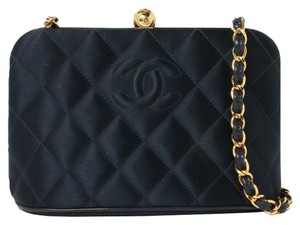Chanel Vintage Lambskin Leather Quilted Cross Body Bag