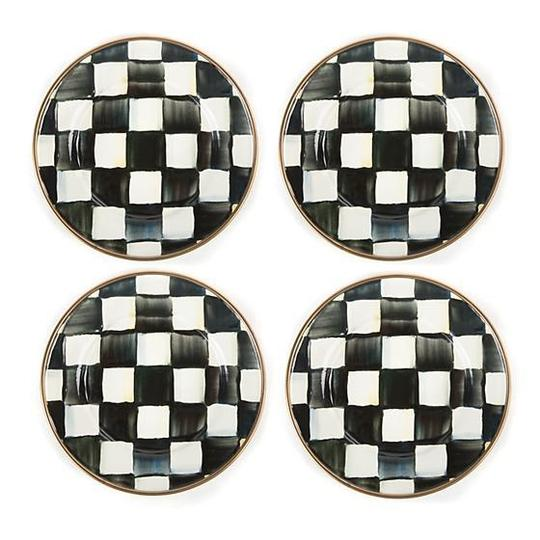 Preload https://img-static.tradesy.com/item/25683184/black-and-white-courtly-check-enamel-canape-plates-fine-china-0-0-540-540.jpg