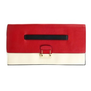 Valentino Cream - Black - Red Clutch