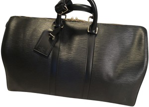 Louis Vuitton Like New Never Used Leather Luggage Men Black Travel Bag