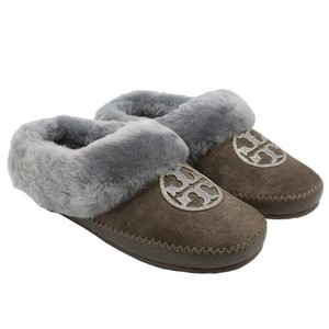 Tory Burch Elephant Pewter Gray Sandals