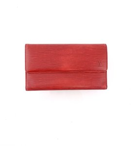 Louis Vuitton Red Epi Leather International Long Clutch Wallet Spain