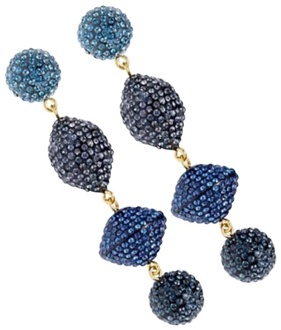 Item - Blue Pave Resin Statment Earrings