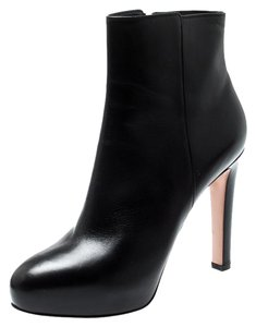 Gianvito Rossi Leather Platform Ankle Black Boots