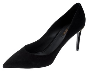 Louis Vuitton Suede Leather Pointed Toe Black Pumps